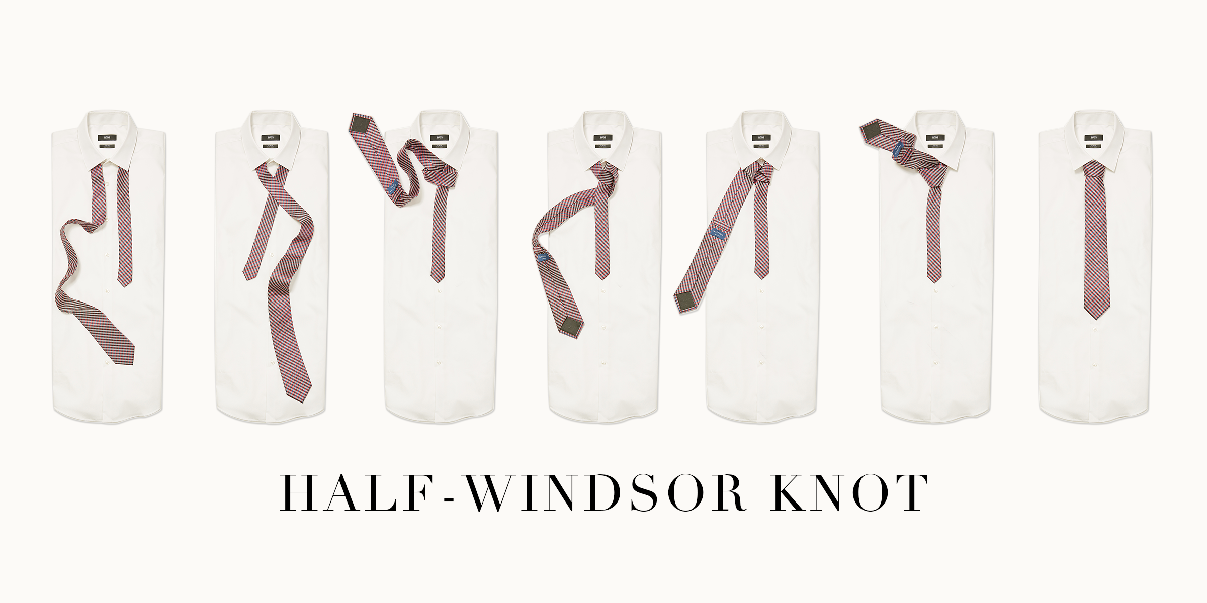 Ties Your Step By Guide The Iconic Edition How To Tie Halfwindsor Knot Half Windsor